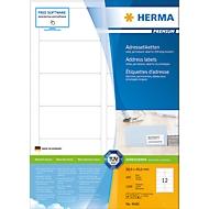 Herma premium-adresetiketten nr. 4666 op A4-bladen, 1200 etiketten, 100 vellen