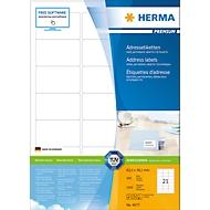 Herma premium-adresetiketten nr. 4677 op A4-bladen, 2100 etiketten, 100 vellen