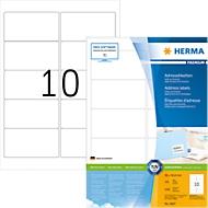 Herma Premium-Adressetiketten Nr. 4667 auf DIN A4-Blättern, 1000 Etiketten, 100 Bogen