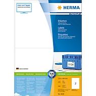 Herma Premium-Etiketten auf A4-Blättern, permanent haftend, 400 Etiketten, 200 Bogen
