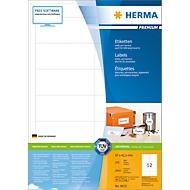 Herma Premium-Etiketten auf DIN A4-Blättern, 2400 Etiketten, 200 Bogen