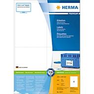 Herma Premium-Etiketten auf DIN A4-Blättern, 800 Etiketten, 200 Bogen