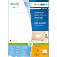 Herma premium-etiketten nr. 8690 op A5-bladen, 400 etiketten, 400 vellen