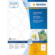 Herma runde Etiketten Nr. 4477 auf DIN A4-Blättern, 1200 Etiketten, 100 Bogen