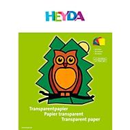 HEYDA Transparentpapier, Heft mit Bastelanleitung, 10er-Pack