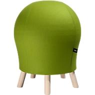 Hocker Sitness Alpine, mit integriertem Gymnastikball, Bezug 75 % Schurwolle, grün