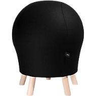 Hocker Sitness Alpine, mit integriertem Gymnastikball, Bezug 75 % Schurwolle, schwarz