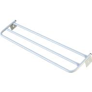 Hoedenplank voor kleedkamerbank, staal, 1015 mm lang, lichtgrijs