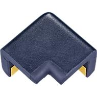 Hoekbeschermer voor Knuffi hoekbeschermprofiel type H, L 42 x B 22 mm, zelfklevend, PU-schuim, 2-benig, zwart