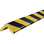 Hoekbeschermingsprofiel type H+, 1 m. stuk, geel/zwart, 1 m.