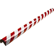 Hoekbeschermingsprofielen type A+, 1 m., 1 m. stuk, rood/wit reflecterend
