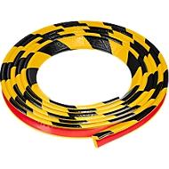 Hoekbeschermprofiel type E, 5 m/rol, geel/zwart