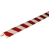 Hoekbeschermprofiel type H, 1 m/stuk, wit/rood