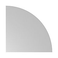 Hoekblad ULM, afgerond, B 800 x D 800 mm, lichtgrijs