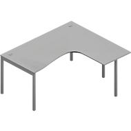 Hoekbureautafel ARLON-OFFICE, B 1600 x D 1200 x H 730 mm, lichtgrijs