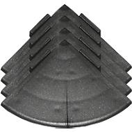 Hoeken voor vloerrooster Yoga Rost®, zwart, 4 stuks