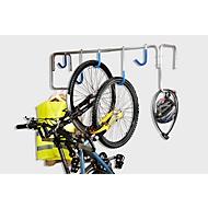 Hoge fietsenparking WSM, 1-zijdig, B 440 x D 360 x H 640 mm, staal gepoedercoat & rood gelakt, 5 ophangplekken
