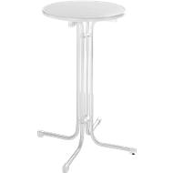Hoge tafel Quickstep zonder parasolopening, desinfectiemiddelbestendig, Ø 700 mm, wit