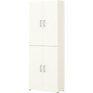 Home Office archiefkast TEMPIO, van hout, 4 deuren, 6 OH, B 800 x D 340 x H 2130 mm, wit/wit