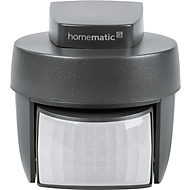 Homematic IP Bewegungsmelder, mit Dämmerungssensor, für außen, Smart Home, anthrazit