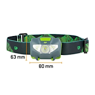 Hoofdlamp GP Discovery CH32, LED, 80 lumens, bereik 30 m, batterij tot 6u30, spatwaterdich