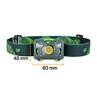Hoofdlamp GP Handenvrij CH34, LED, 160 lm, bewegingssensor, verschillende modi, bereik tot 90 m, tot 20 h, batterijen inbegrepen