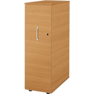 Hoog ladeblok Tetris Wood, 3 schuifladen + 1 materiaallade, B 424 x D 803 x H 1296 mm, beuken