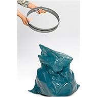 Houder VAR, voor 120-l-afvalzakken & afvalverzamelaar met inwerpopening Ø 350 mm, met rubberen koord Staal