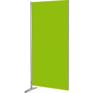 Houten wand METROPOL, gelakt, groen/aluminium