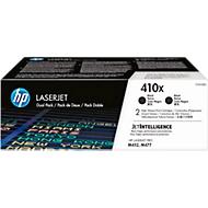 HP LaserJet 2 x HP 410X (CF410XD) printcassettes, zwart