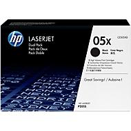 HP toner HP CE505XD|05XD Tonercartridge zwart twin pack, 6.500 pagina's ISO/IEC 19752, Inhoud VE=2 voo...
