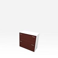 HR-Schrank X-TIME-WORK, 2 Auszüge, 860 x 430 x 860 mm, Wenge-Dekor/weiß