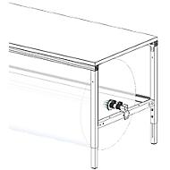Hüdig+Rocholz Achssatz für Packtisch System Flex, für Tischbreite 1600 mm