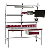 Hüdig+Rocholz complete inpaktafel compact systeem Flex, 1600 mm, in hoogte verstelbaar