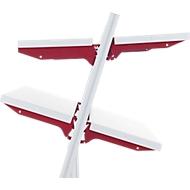 Hüdig+Rocholz legbord systeem Flex, Type B, 800 x 300 mm, voor schuine opbergvlakken