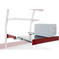 Hüdig+Rocholz uitschuifbaar legbord systeem Flex, Bruikbare oppervlakte 720 x 500 mm, in hoogte verstelbaar