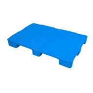 Hygienepalette FP-EHK1208-9L, Tragkraft 5000/1250 kg, geschlossenes Oberdeck, 9 Füße, L 1200 x B 800 x H 130 mm, Recycling-HDPE, blau, 3 Stück