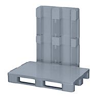 Hygienepalette FP-EHK12083, Tragkraft5000/1250 kg, 3 Kufen, geschlossenes Ober- & Unterdeck, L 1200 x B 800 x H 160 mm, Recycling-HDPE, grau, 3 Stück