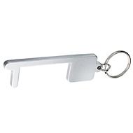 Hygieneschlüssel Distance, Silberfarben, Auswahl Werbeanbringung erforderlich