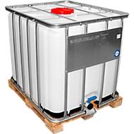 IBC container risicogoederen, met houten pallet, afmetingen h 1160 x b 1000 x l 1200 mm