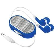 In-Ear Kopfhörer Coloursound, mit Kabel, ausziehbar, mit Reflektor, blau