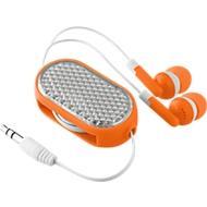 In-Ear Kopfhörer Coloursound, mit Kabel, ausziehbar, mit Reflektor, orange