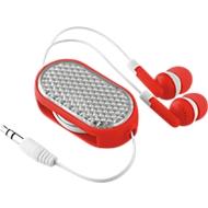 In-Ear Kopfhörer Coloursound, mit Kabel, ausziehbar, mit Reflektor, rot