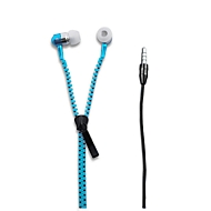 In-Ear-Kopfhörer HEJU Zipper, Kunststoff, Reißverschluss-Optik, WAB 20 x 10 mm, blau
