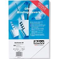 Inbindcovers, karton, 250 m², A4, wit, 100 kartonnen covers