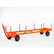 Industriële aanhanger, opleggerbesturing met 2 assen, volrubberen banden, draagvermogen 3000 kg, 4000 x 1050 mm
