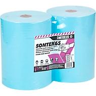 Industriële poetsdoeken SONTEK65, 60 g/m², nat en droog te gebruiken, sterk absorberend, L 300 x B 500 mm, 2 x 280 st.