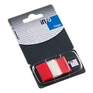 INFO Flags Haftnotizen, 25 mm x 43 mm, 50 Blatt, rot transparent