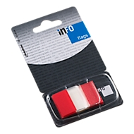 INFO Flags post-its, 25 mm x 43 mm, 50 vellen, rood transparant