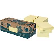 INFO notes, gerecycleerd papier, geel, 50 mm x 40 mm, pak van 12 stuks